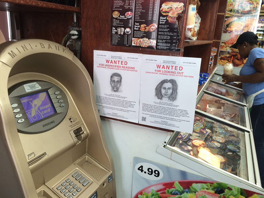Wanted, installed in Harlem NY deli