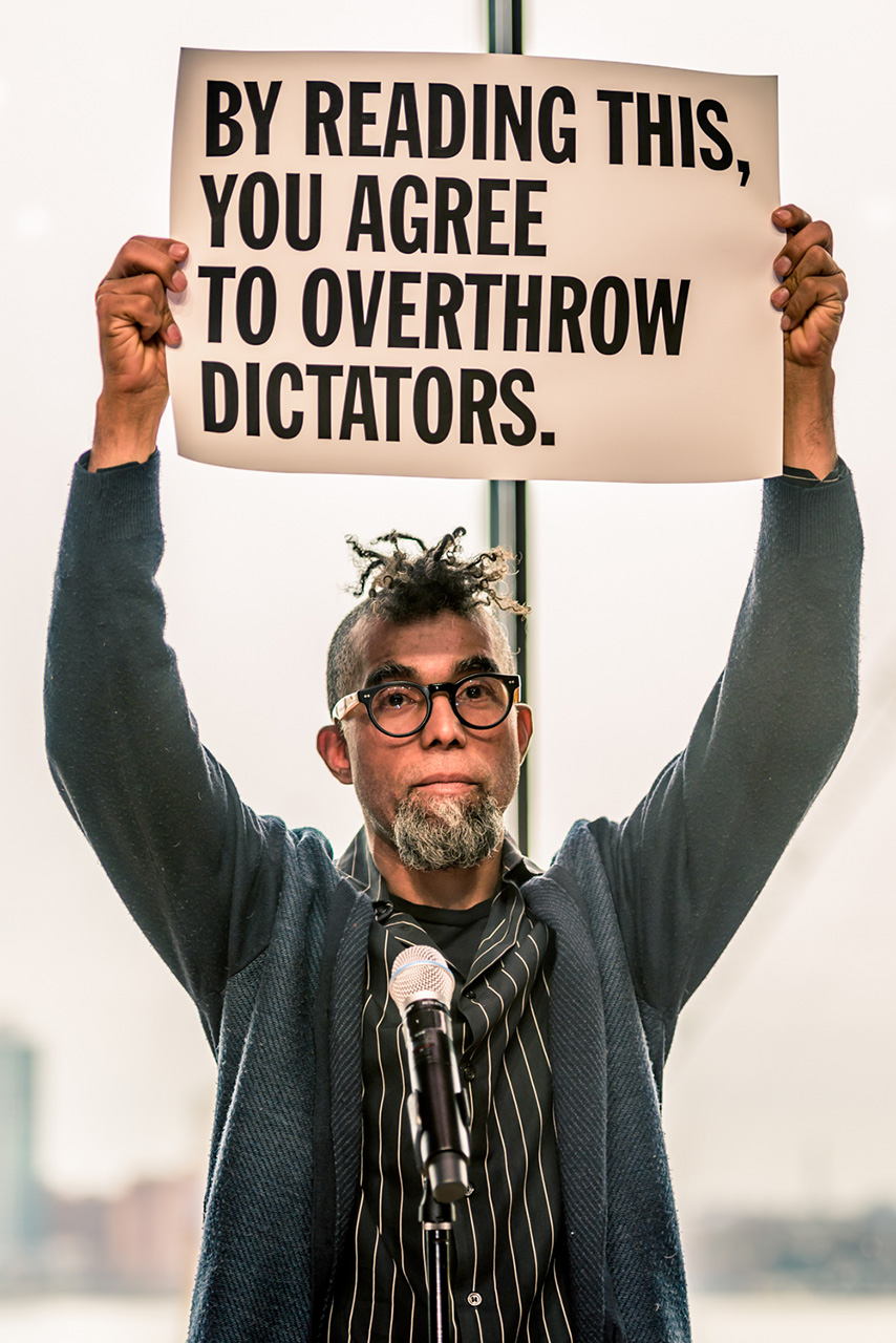 By reading this, you agree to overthrow dictators, 2017, size & media variable