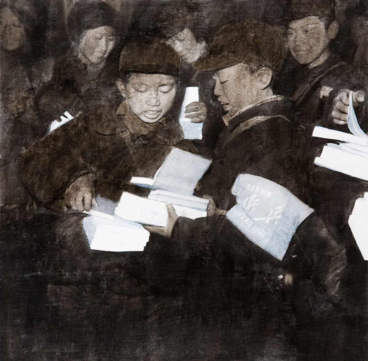 Red Guards with Books